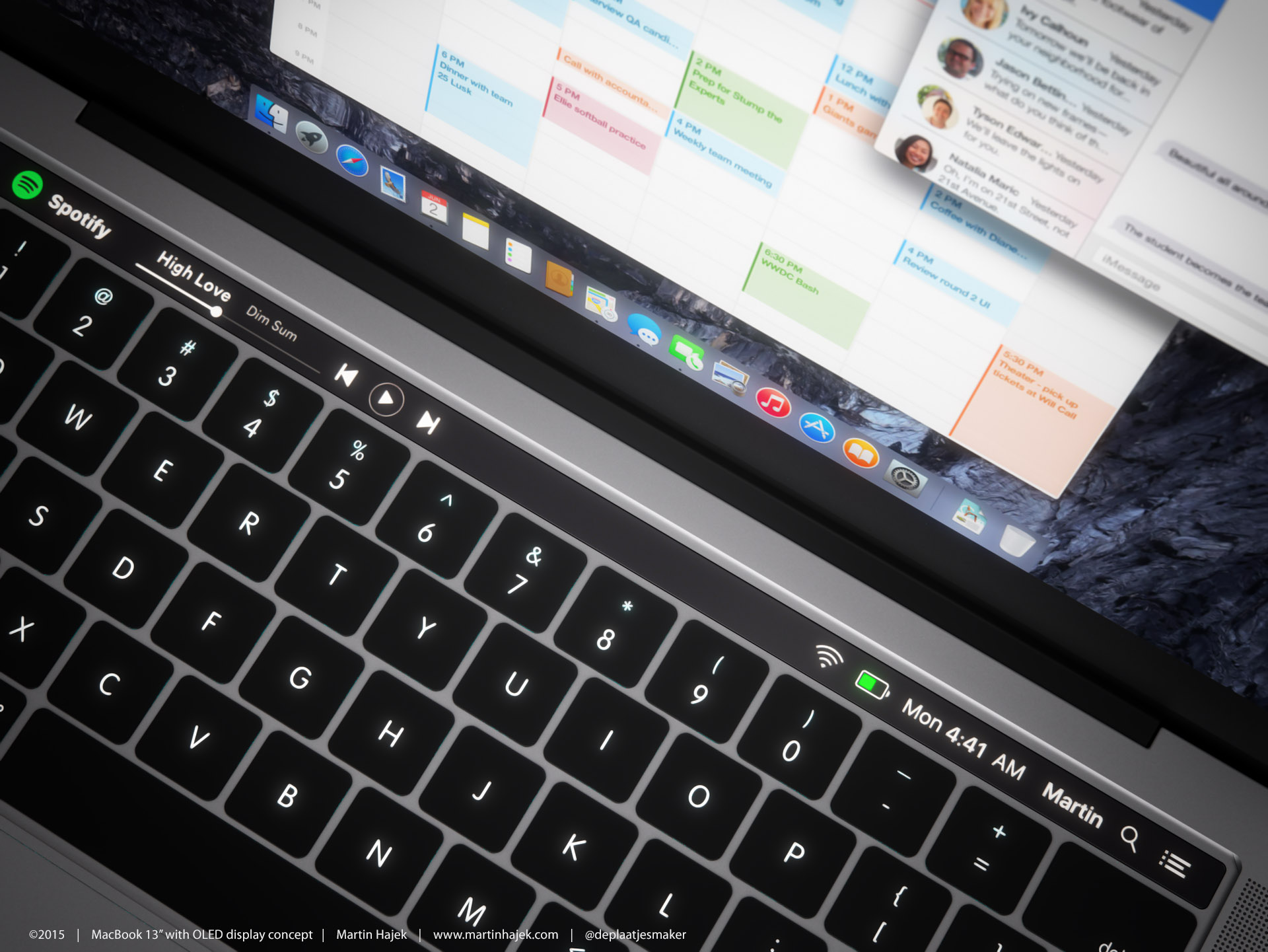 MACBOOK PRO 2016 avec Touch Bar OLED